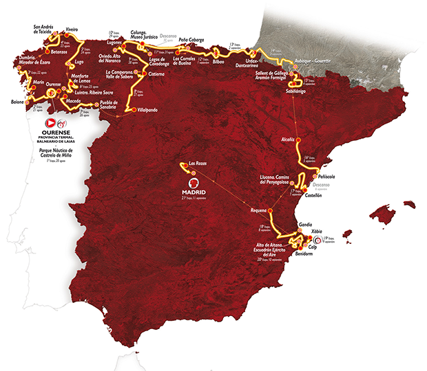 recorrido vuelta ciclista españa